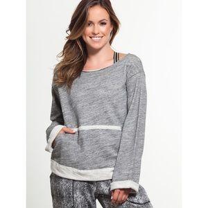 Blue Life Fit | Open Back Sweatshirt in Grey